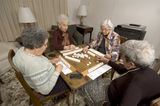 Playing Cards at Retirement Home